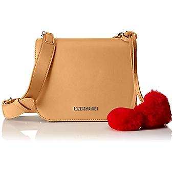 Love Moschino Bag Pin Grain Pu - بني حقائب كتف نسائية (لون الجمل) 8x17x21 سم (B x H T)