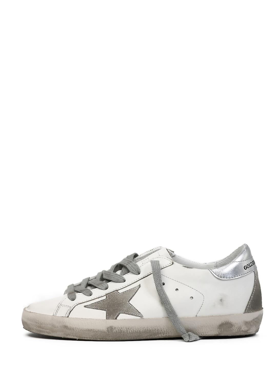 Golden Goose Gwf00102f00031710273 Women's White Leather Sneakers