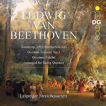 Beethoven / Leipzig String Quartet - Beethoven: Sonatas & Overtures Arr String Quartet [CD] USA import