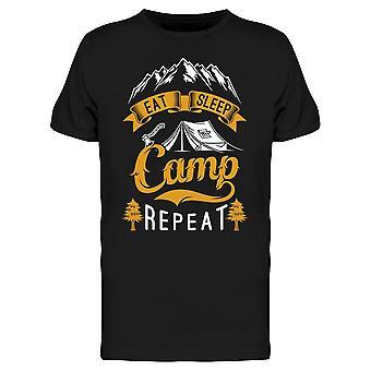 Eat Sleep Camp Repeat Tee Men's -Image by Shutterstock