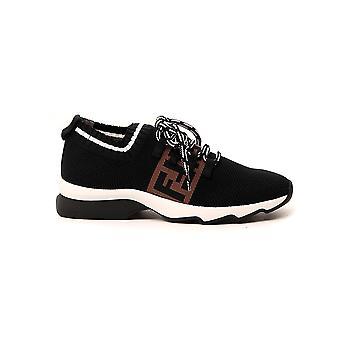 Fendi 8e8053ac84f0vqd Women's Black Leather Sneakers