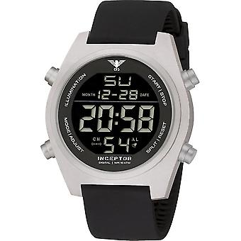 KHS - Men's Watch - Inceptor Steel Digital Silicone Strap - KHS. INCSD. Sb