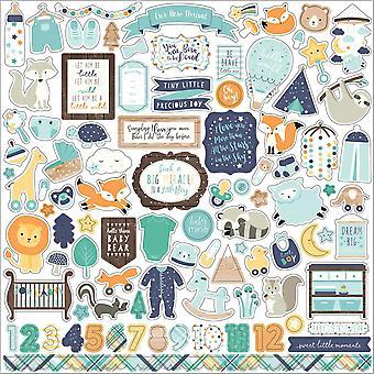 Echo Park Hello Baby Boy 12x12 Pollici Elemento Adesivo