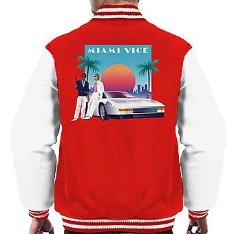 Miami Vice zonsondergang mannen ' s Varsity Jacket