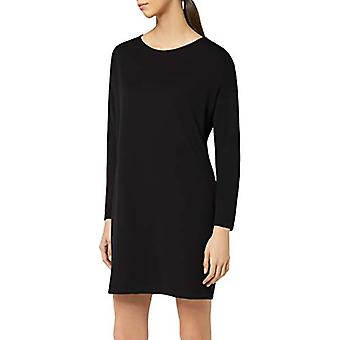 Meraki Women's Long Sleeve Shift Klänning med fickor, svart, EU L (US 10)