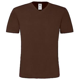 B&C Mens Mick Classic V Neck Short Sleeve T-Shirt