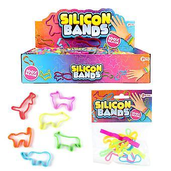 2 pacotes 12pcs Bracelete animais de silicone Motivo