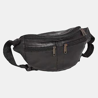 Primehide Lederen Bumbag Vrouwen RFID Blokkeren Taille Security Travel Bag 102