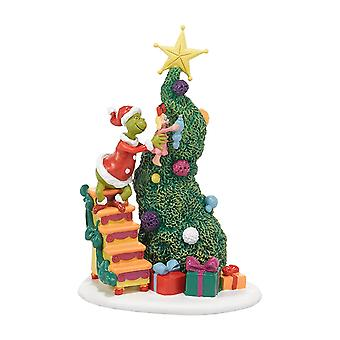Dept 56 Grinch Landsbyer Det tar to, Grinch & Cindy-lou Statue Figurine