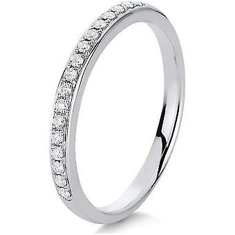 Anello di diamante - 14K 585 oro bianco - 0.15 ct.