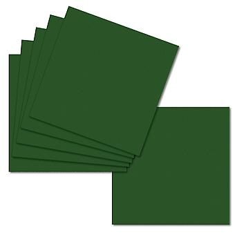 Vert profond. 123mm x 123mm. Petit Carré. Feuille de carte de 235gsm.