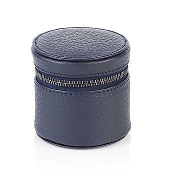 Richmond nahka pyöreä trinket laatikko Indigo Blue