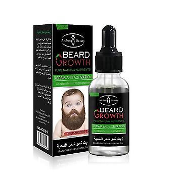 1/4 Bottles Natural Organic Hair Growth Liquid Beard Oil Beard Wax For Groomed Beard