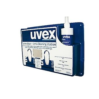 Uvex 9990-000 Complete Wall Mountable Cleaning Station Blue
