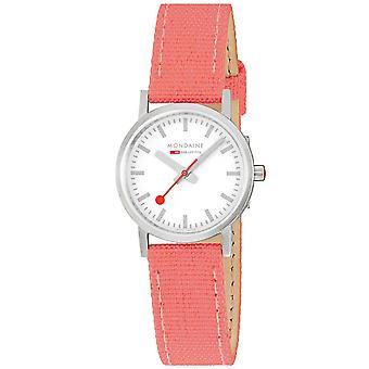 Mondane Classic Quartz White Dial Coral Red Strap Ladies Watch A658.30323.17SBP