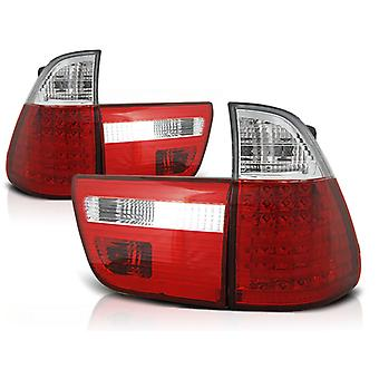 Hinten LIGHTS BMW X5 E53 09 99-10 03 RED BRIGHT LED