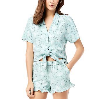Maison Jules | Printed Tie-hem Top Short Sleeve