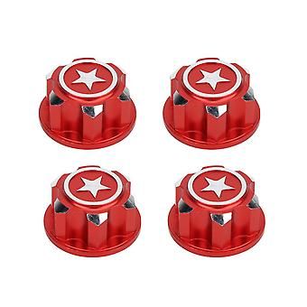 Aluminum Alloy RC Model Car 17mm Mounting Wheel Nut Hex Kit Red
