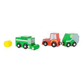 Legler Small Foot World Farm Vehicle Wooden Kid's Playset Unisex (10803)