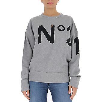 N°21 E03163138993 Femme's Sweatshirt en coton gris