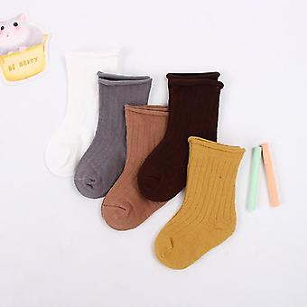 Baby Toddler Cotton Socks Kids And Spring Summer Autumn Short Newborn Ribbed