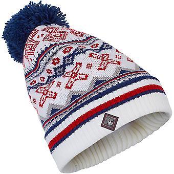 Spyder BELLA women's knit bobble winter ski hat navy