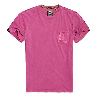 Superdry Surplus Goods Box Fit Tee - Fushion Pink