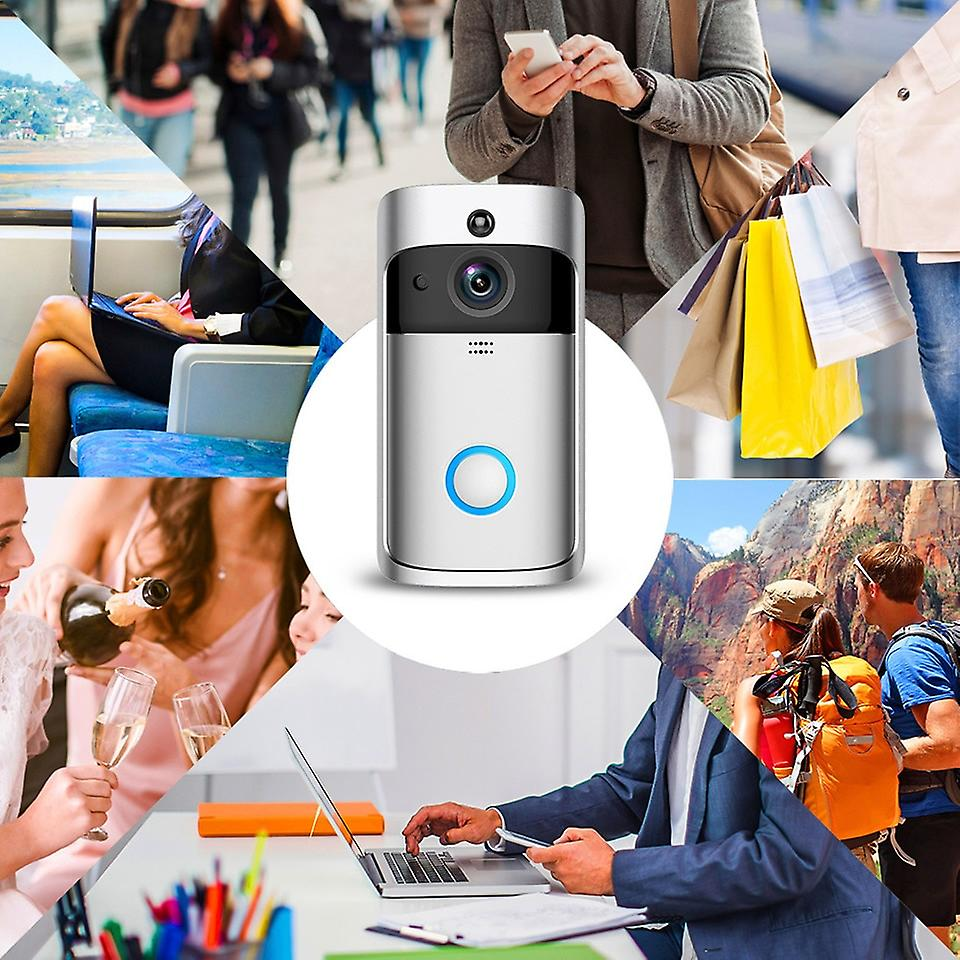 Smart Doorbell Camera Wifi Wireless Call Intercom Video ...