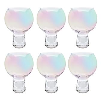 iStyle Pearlescent Lustre Set of 6 Gin Glasses