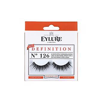 Eylure Definition No 126 Reusable Gorgeous Spikey Eyelashes (adhesive Included)