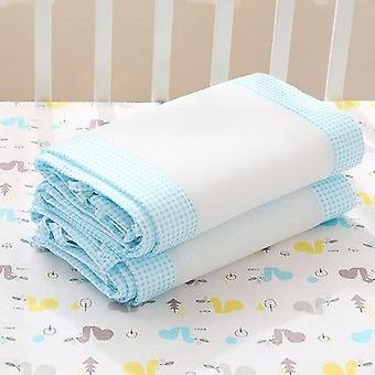 2pcs/set Breathable Summer Baby Bedding Bumper- Collision Half Around Baby