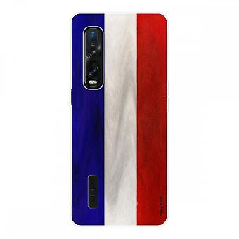 Hull For Oppo Find X2 Pro In Silicone Souple 1 Mm, French Flag