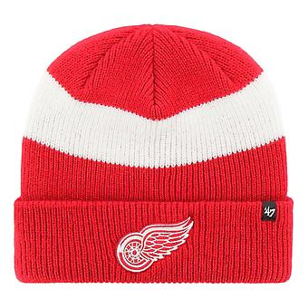 47 Brand Detroit Red Wings Short Side Beanie - Red