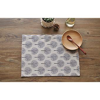 Homemiyn Cotton And Linen Placemats Printed Simple Style