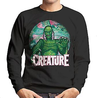 Creature From The Black Lagoon Mix Circle Men's Sweatshirt