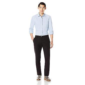 Goodthreads Men's Slim-Fit Wrinkle-Free Dress Chino Pant,, Black, Size 28W x 32L