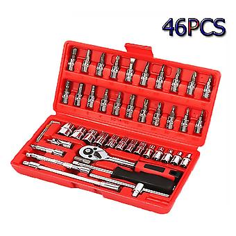 Socket Wrench Tools Key Hand Tool Set - Spanner Wrench Socket Case
