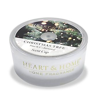 Heart & Home Glass Scent Cup Christmas Tree