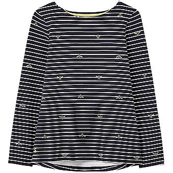 Joules Womens Harbour Print Relaxed Fit Long Sleeve Top