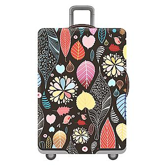 Leaf Printed Travel Luggage Protector