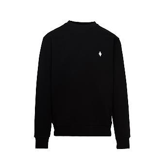 Marcelo Burlon Cmba009e20fle0071001 Men's Black Cotton Sweatshirt