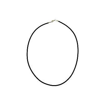 Halskette 3mm Gummiband Silber Verschluss 55cm