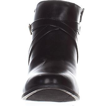 Karen Scott Womens Falonn Leather Almond Toe Ankle Fashion Boots