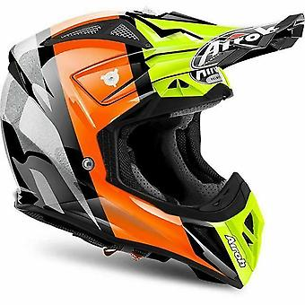 Airoh Aviator 2.2 Revolve Off Road Helmet Yellow Orange Grey ACU Approved