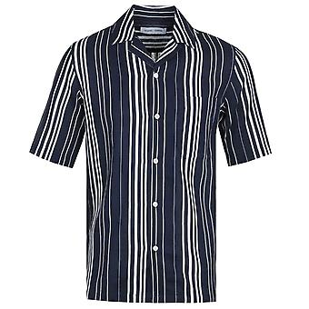 Samsoe & Samsoe Oscar 11528 Navy Stripe Print Shirt