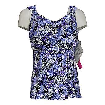 Fit 4 U Swimsuit Wide Strap Sweetheart Tankini Top Purple A376257
