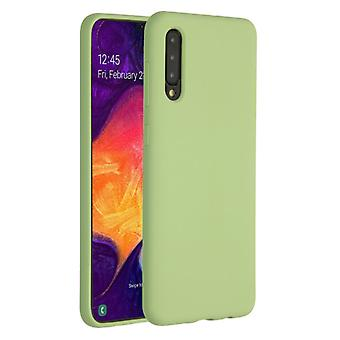 HATOLY Samsung Galaxy A30 Silicone Case - Soft Matte Case Liquid Cover Green