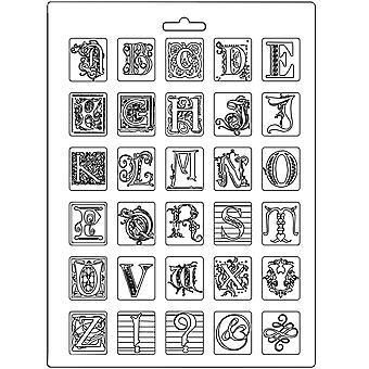 スタンパーリアソフトモールドA4アルファベット