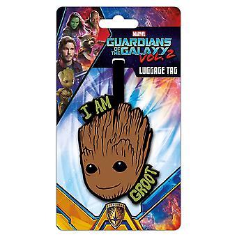 Voktere av Galaxy 2 Jeg er Groot Bagasje Tag