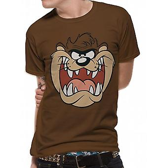 Looney Tunes Unisex Adults Taz Face Design T-shirt